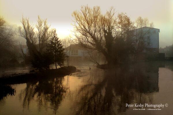 Crabble Corn Mill - Mist At Sunrise