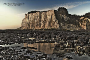 St Margarets Bay - Cliffs - Reflection