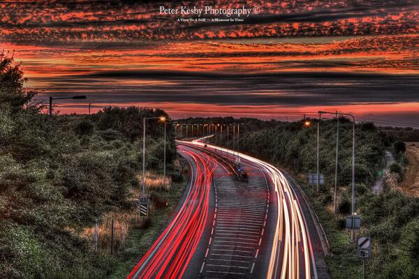 Light Trails - A2 - Sunset