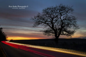 Light Trails - Sunset - Near M20