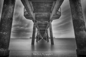 Under Deal Pier - Long Exposure - Mono