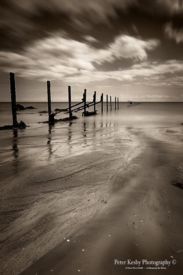 Groynes - The Warren - Sepia