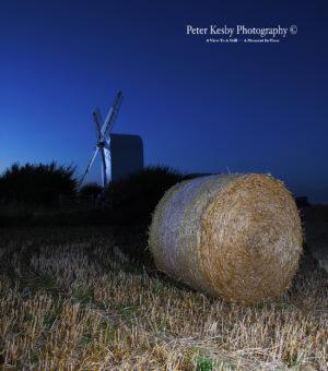 Chillenden Windmill - Night - Hay Bale