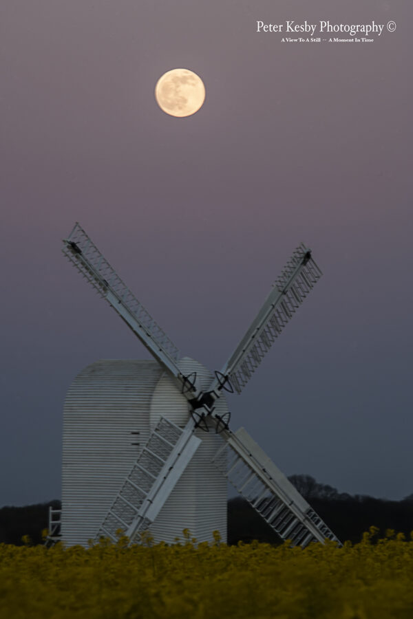 Full Moon Over Chillenden Windmill
