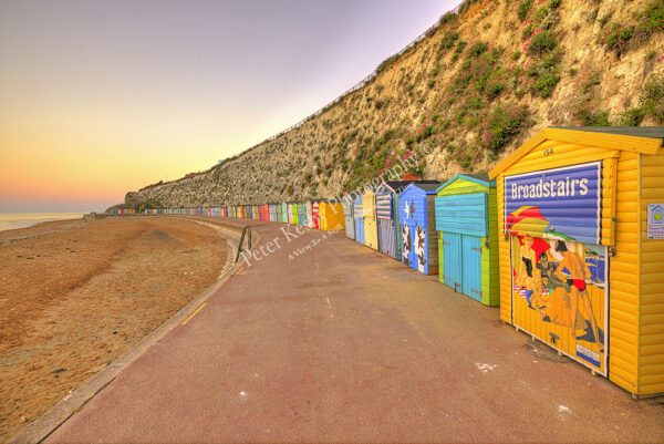 Beach Huts - Stone Bay - Sunset
