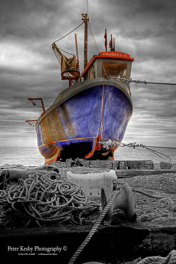Hythe - Fishing Boat - Colour Popped