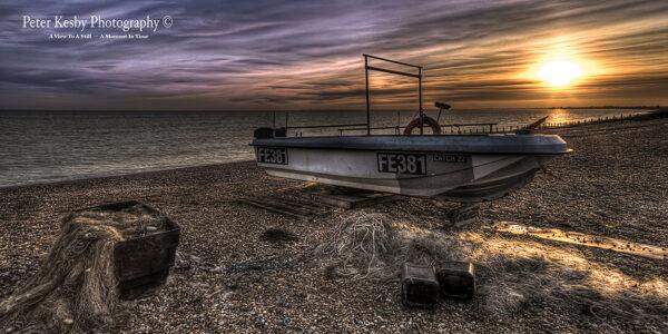 Hythe - Fishing Boat - Sunset - #1