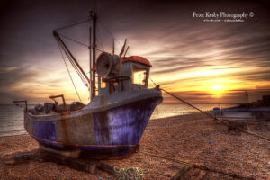 Hythe - Fishing Boat - Sunset - #2