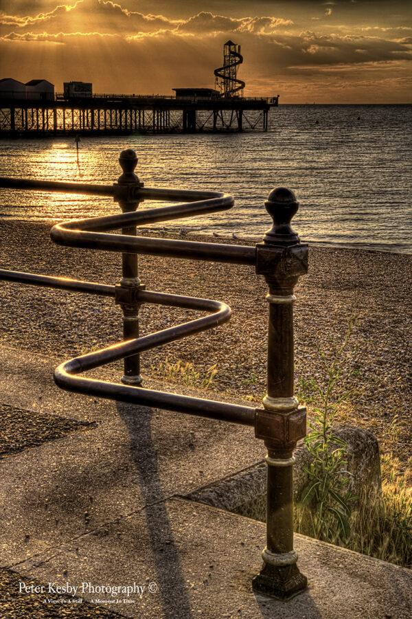 Fence - Herne Bay Pier - Sunset