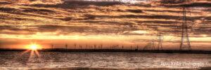 Pylons - Sunset - Panoramic